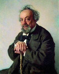 Portrait of Pisemskii (1880) by Repin