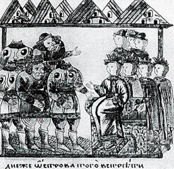 Headless men in a 17th-century Slavic manuscript about Alexander