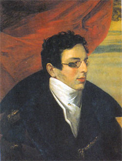 Nikolai Gnedich (1784-1833), who started translating Homer in alexandrines, then began again with the Russian hexameter