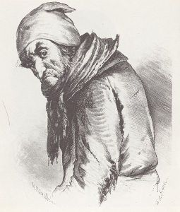 Pliushkin from Dead Souls (illustration by P. M. Boklevskii)
