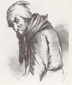 Pliushkin from Dead Souls (illustration by P. M. Boklevskii)