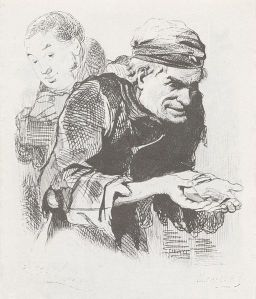Pliushkin from Dead Souls (illustration by A. A. Agin)