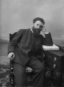 Restoration of a photograph of Vladimir Galaktionovich Korolenko taken in Nizhny Novgorod in the 1890s