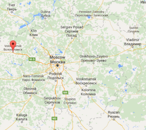 Kostya made it this far from Moscow, once